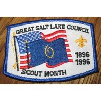 Boy Scout Patch Vintage Great Salt Lake Scout Month Bsa