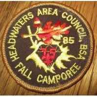 Vintage Boy Scout Patch Bsa Fall Camporee Area Council