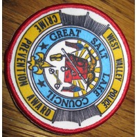 Vintage Boy Scout Patch West Valley Police Crime Award