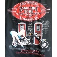 Hard Core Customs Gladstone Mo Sz Lg Large Mens Button Down Pin-Up Girl Biker