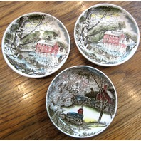Johnson Brothers Coaster Made In England Old Mill Scene Set Of 3
