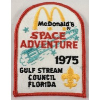 Boy Scouts Uniform Patch Bsa Mcdonalds Space Adventure 1975 Gulf Stream  #Bsrd