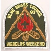 Bsa Boy Scout Uniform Patch Blue Grass Council 1983 Webelos Weekend   #Bsrd
