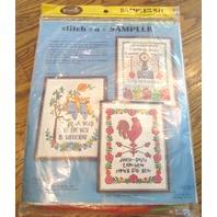 Vintage Wonder Art Cross Stitch Sampler Guests Best Served In The Kitchen