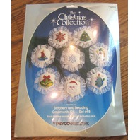 The Christmas Collection Stitchery And Beading Paragon Needlecraft Ornaments New
