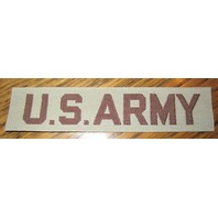 """Us Military Army Uniform Rank Bar Shoulder Patch Khaki And Brown 4.5"""" Long"""
