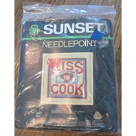 """Sunset Kiss The Cook  5"""" X 5"""" Frame Size"""