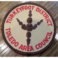 Vintage Boy Scouts Patch Bsa Turkeyfoot District Klondike Toledo Area Council