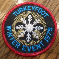 Vintage Boy Scouts Patch Bsa Turkeyfoot Winter Event 1979 Snowflake