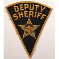 Deputy Sheriff Pie Shaped Gauze Backing  Police Uniform Patch #Pd-Yl Version 1