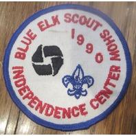 Boy Scouts Uniform Patch Bsa Blue Elk Scout Show Independence Center 1990