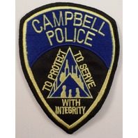 Cambell Police To Protect, Serve With Integrity  Police Uniform Patch #Pd-Bk