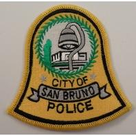 City Of San Bruno  Police Uniform Patch #Pd-Yl