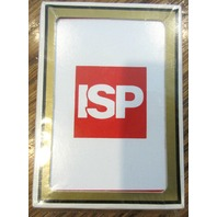 Isp Sealed Advertising Deck Of Cards Red And White Logo Gemaco