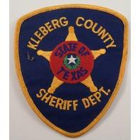 Kleberg Counyty Sheriff Dept Police Uniform Patch #Pd-Yl