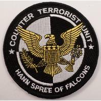 Counter Terrorist Unit Hann Spree Of Falcons Uniform Patch #Pd-Bk