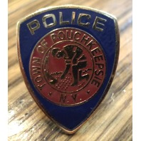 Hat Lapel Uniform Pin Town Of Pouchkeepsie N.Y. Ny Police