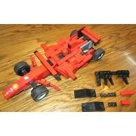 LEGO RED SPORT RACE CAR #6 ALICE FIAT RED AND BLACK