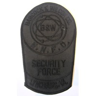 Nnfd Babcock Wilcox B & W Security Force Lynchburg Virginia Va Uniform Patch