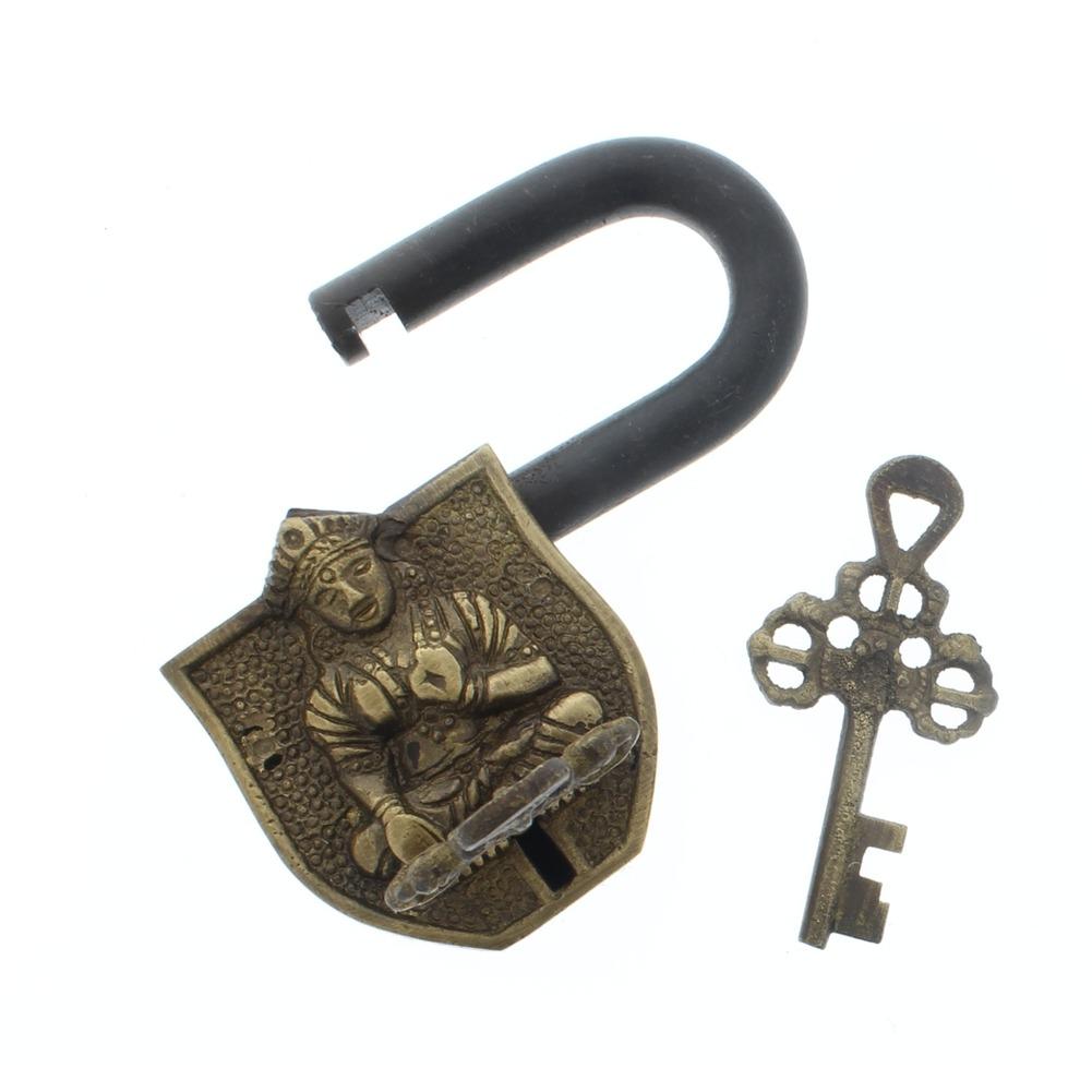 Cast Iron Working Padlock Tara Small Monastary Lock W/2 Keys Free Ship