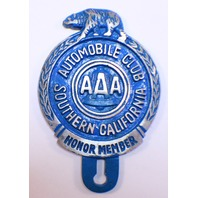 Aaa Automobile Club So. Ca Bear Fob Aluminum Painted Motorcycle Car License Plate Fob