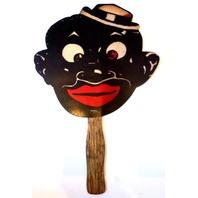 Black Americana Menu Fan Smoking Joe'S Restaurant Collectible Advertisement
