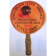 Pasteurized Chocolate Milk Dairy Advertisement Fan Null's Chocolate Eyes Drinks