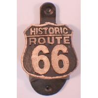 Cast Iron Bottle Opener Historic Route 66  with Antique Painted Patina