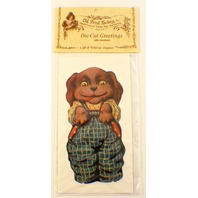 Victorian Turn Of The Century Valentine Card Little Boy Puppy Dog #Eao-032
