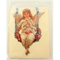 Victorian Turn Of The Century Angel On A Swing Note Card #Eao-052