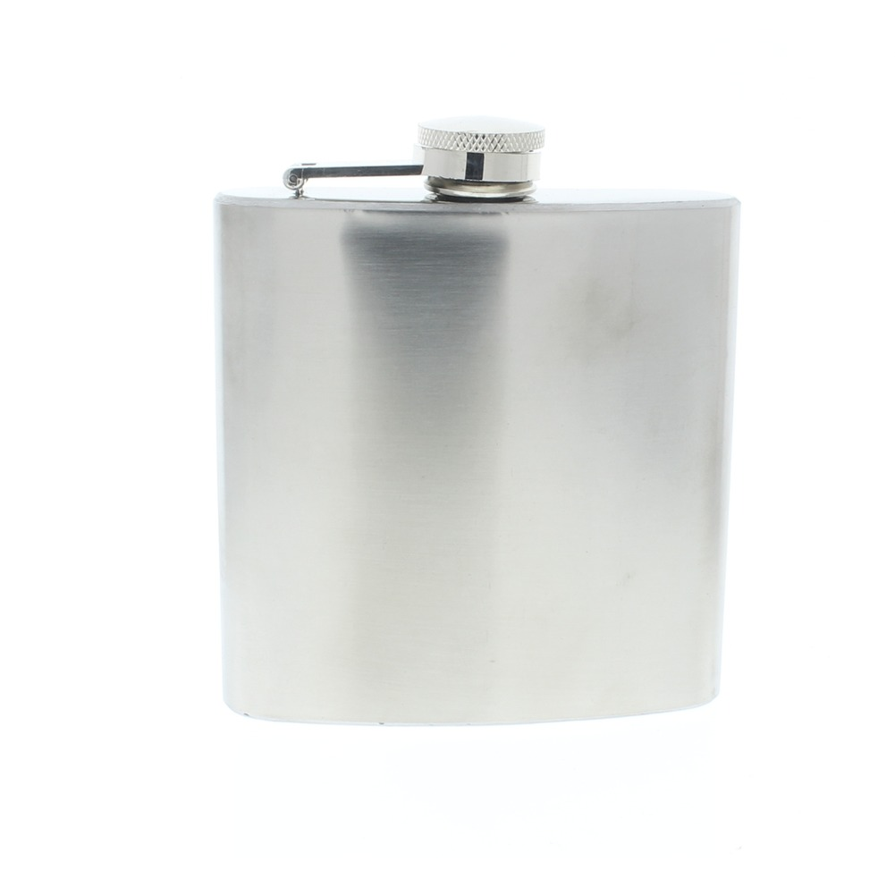 Csa Stainless Steel 6 Oz Hip Flask Pewter Great for Gifts and Western Reinactments