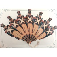 Vintage Inspired Valentine Paper Fan Greeting Card Marching Soldiers