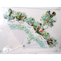May The Singing Of Birds Always Be A Part Of Your Day Valentine Paper Fan Card