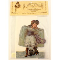 Victorian Turn Of The Century You'Re Special Greeting Card Girl Dog  #Fc-111