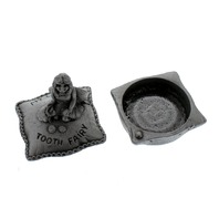 A.E. Williams Pewter Tiny Trinket Wee Box My Little Tooth Fairy Pillow