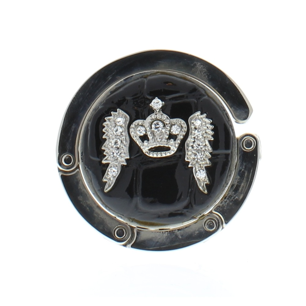 Crown with Wings Royalty Inspired Purse Handbag Bag Hook Hanger compact