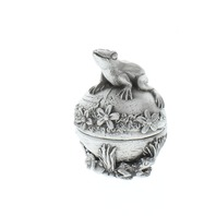 A.E. Williams Pewter Tiny Trinket Wee Box Frog Prince with a Dragonfly