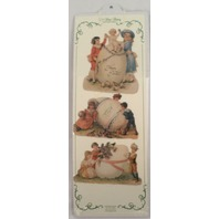 Turn Of The Century Victorian Easter Ribbon Greeting Card Egg Children