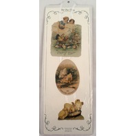 Turn Of The Century Victorian Easter Ribbon Greeting Card Chicks & Eggs #Gor018