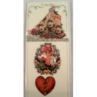 Turn Of The Century Victorian Valentine Ribbon Greeting Card Sail Boat #Gor024