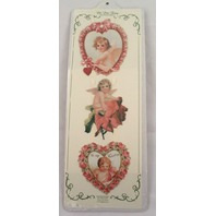 Turn Of The Century Victorian Valentine Ribbon Greeting Card Angel Baby #Gor026