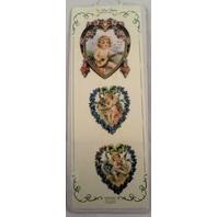 Turn Of The Century Victorian Valentine Ribbon Greeting Card Cherrub #Gor028 New