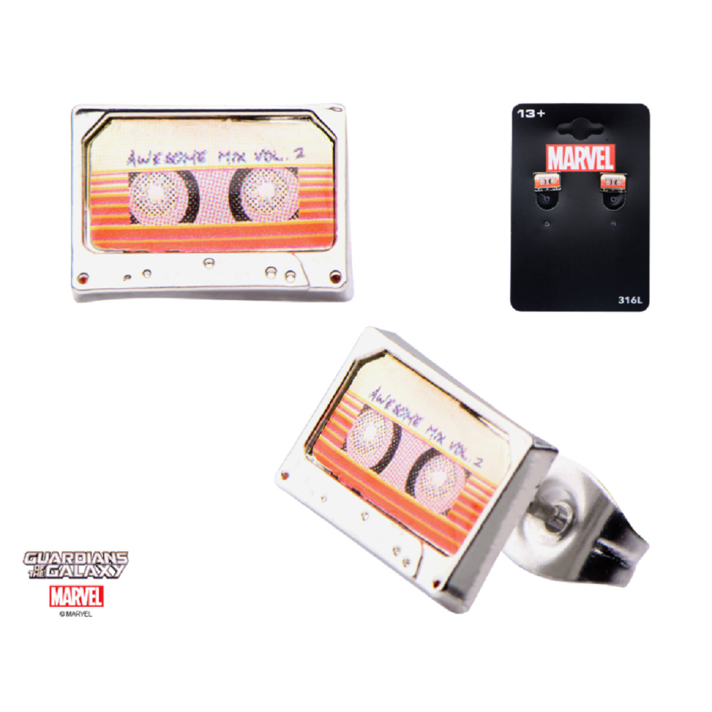 Inox Jewelry Guardians of the Galaxy Tape Stainless Steel Post Stud Earring