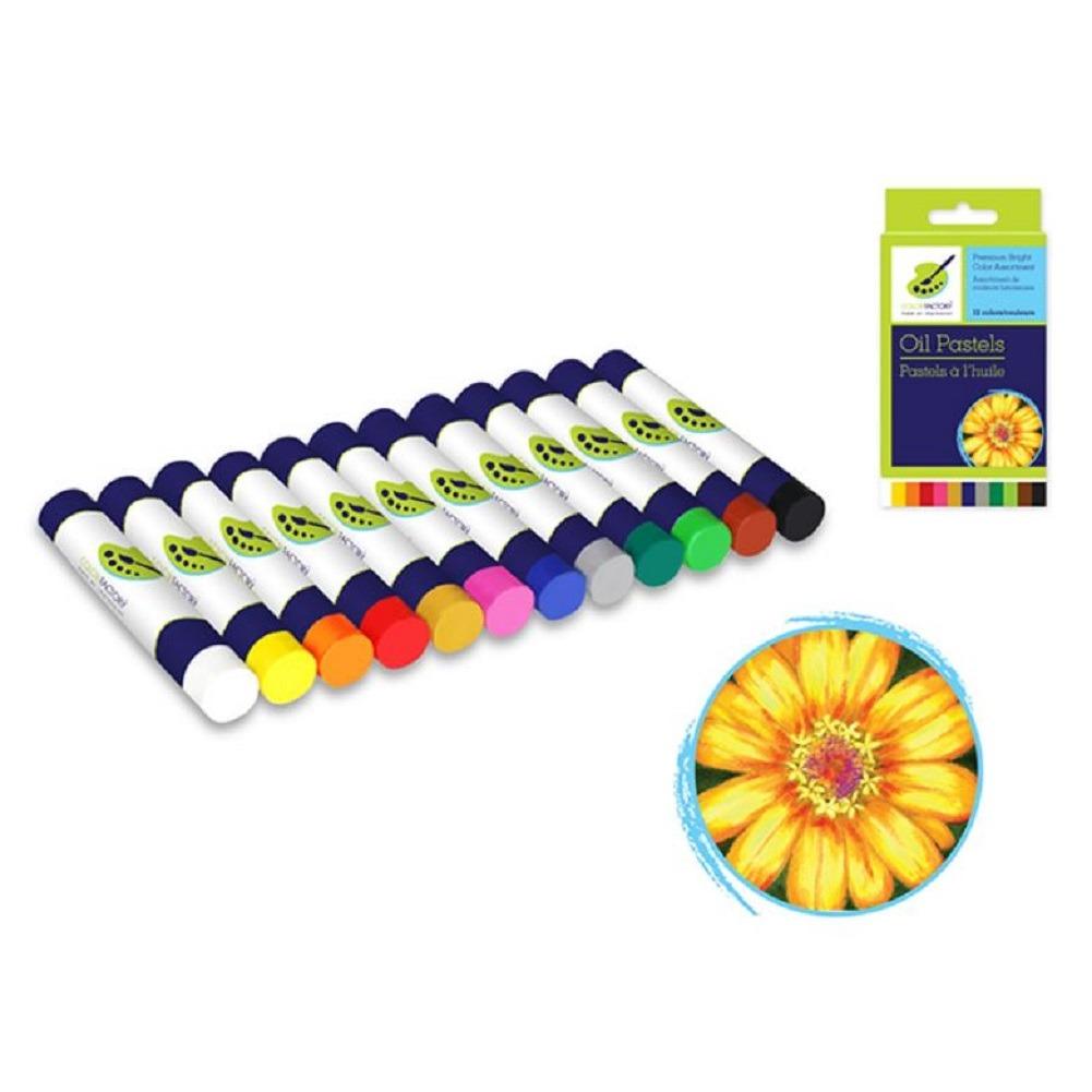 Multi Craft  12 Colors Oil Pastels Color Factory Premium Bright Assortment