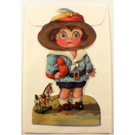 Victorian Turn Of The Century Boy With A Heart Knodder Gift Tag To From #Grc037