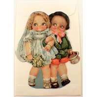 Victorian Turn Of The Century Boy & Girl Wedding Bride Groom Note Card  #Grc043