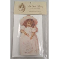 Victorian Turn Of The Century Happy Birthday 4 Maidens Greeting Card #Grc053