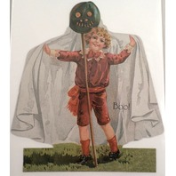 Victorian Turn Of The Century Happy Halloween Boy Ghost Greeting Card #Grc078