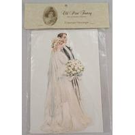 Victorian Turn Of The Century Wedding Card Pop-Up Bride & Groom #Grc105