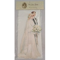 Victorian Turn Of The Century Large Wedding Card Pop-Up Bride & Groom XL